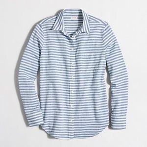 J. Crew Blue & White Striped Button Down | Size M